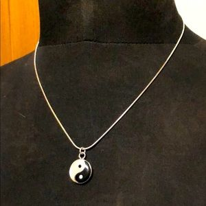 Sterling Ying Yang Pendant & Chain